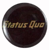 Status Quo - 'Logo Brown' Button Badge